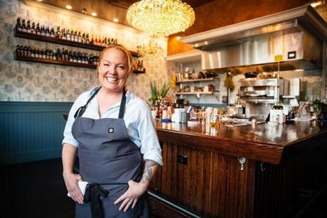 08/24/2018 BOSTON, MA Chef Tiffani Faison (cq) at Fool's Errand in Boston. (Aram Boghosian for The Boston Globe)